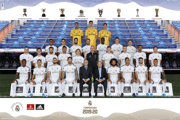Poster  Real Madrid 2019/2020 - Team