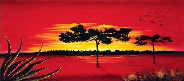 Red Africa Kunstdruck