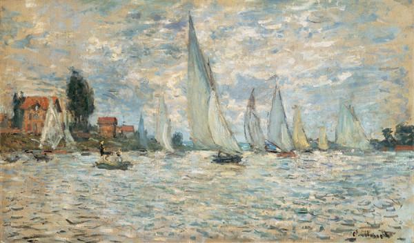 Regattas, Boats at Argenteuil, 1874 Kunstdruck
