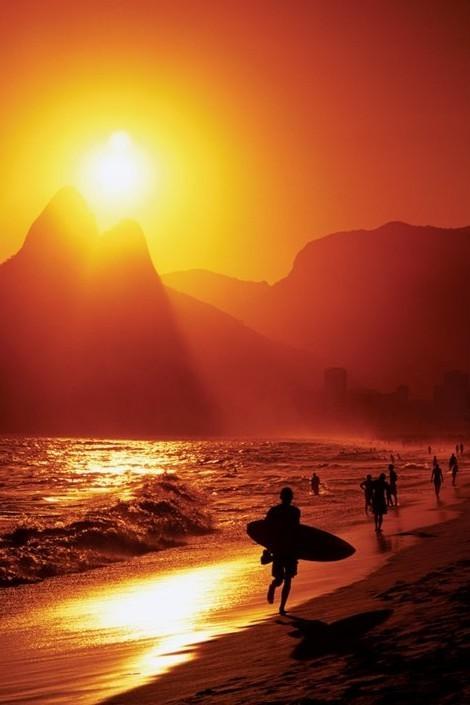 Poster Rio de Janeiro - ipanema Beach