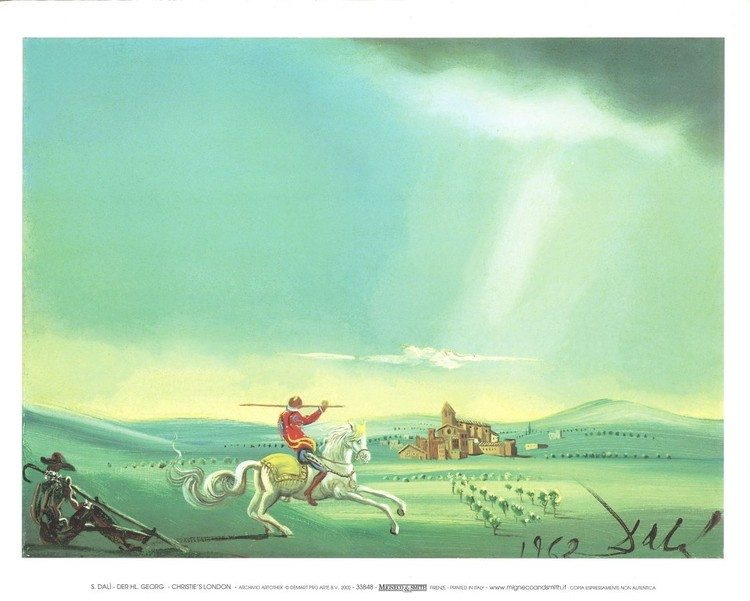 Saint George and the Dragon, 1944 Kunstdruck