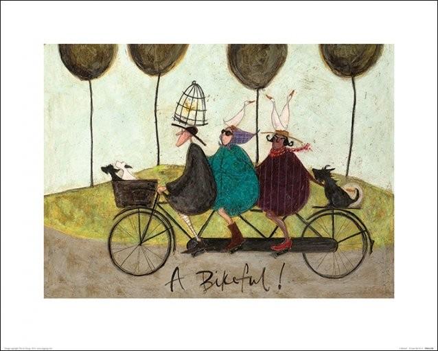 Konsttryck Sam Toft - A Bikeful!