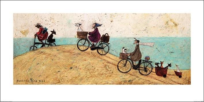 Konsttryck Sam Toft - Electric Bike Ride
