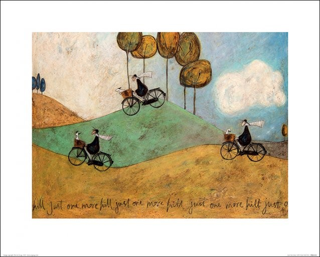 Konsttryck Sam Toft - Just One More Hill