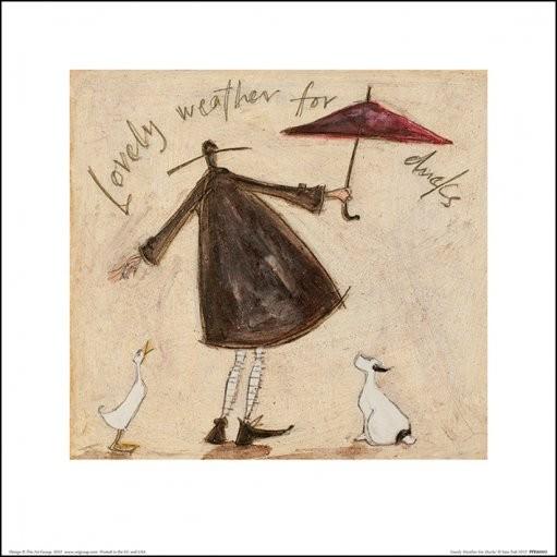 Konsttryck Sam Toft - Lovely Weather For Ducks