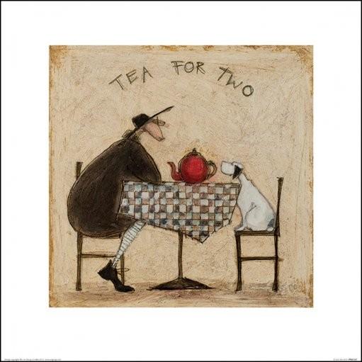 Konsttryck Sam Toft - Tea for Two