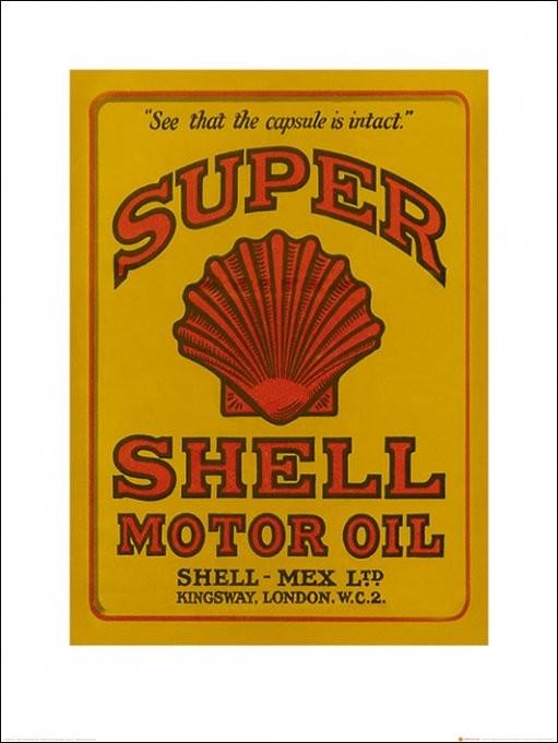 Poster Shell - Adopt The Golden Standard, 1937