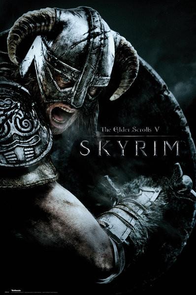 Poster Skyrim - Attack