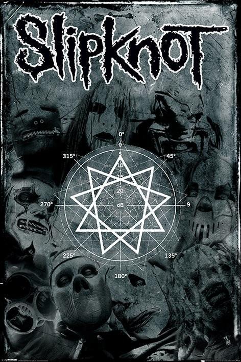 Poster Slipknot - pentagram