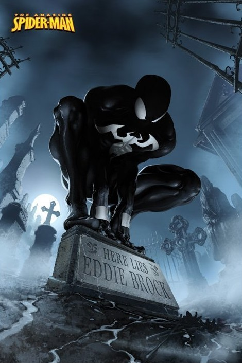 Poster SPIDERMAN - hier liegt eddie brock