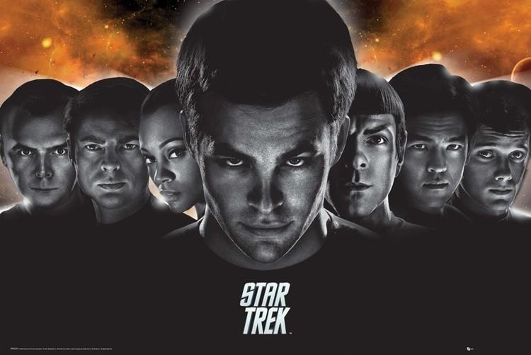 Poster STAR TREK - heads