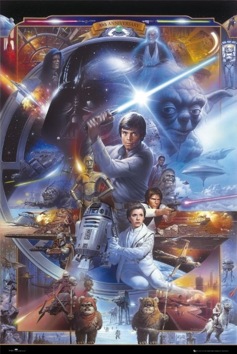 Poster STAR WARS - 30th anniversary