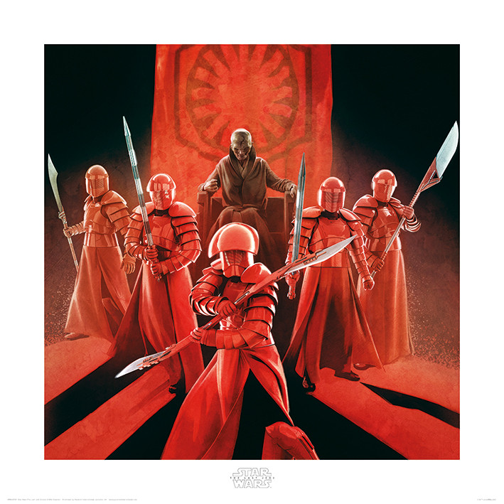 Kunstdruck Star Wars: Die letzten Jedi - Snoke & Elite Guards bei ...