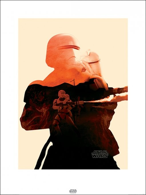 Konsttryck Star Wars Episod VII: The Force Awakens - Flametrooper Tri