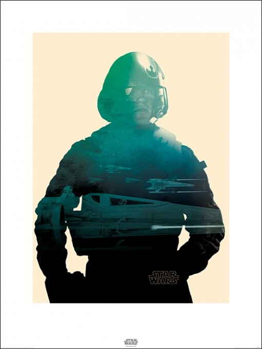 Konsttryck Star Wars Episod VII: The Force Awakens - Poe Tri