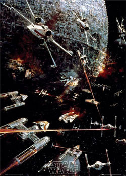 Poster STAR WARS -  space battle