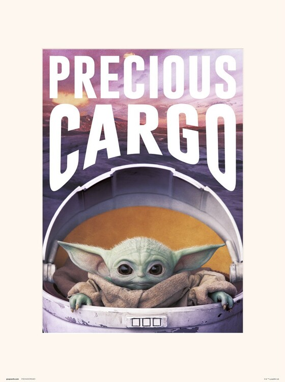 Konsttryck Star Wars: The Mandalorian - Precious Cargo
