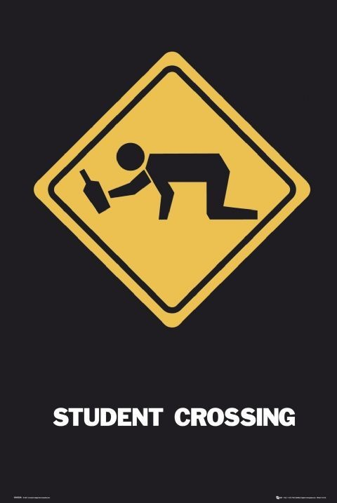 Student crossing - GB Poster