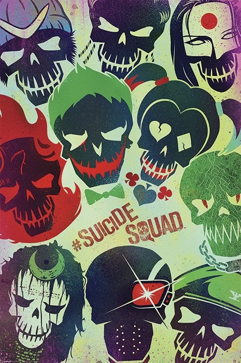 Poster Suicide Squad - Skulls