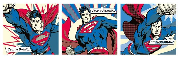 Poster Superman - Pop Art Triptych