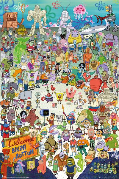 Poster SvampBob - Cast