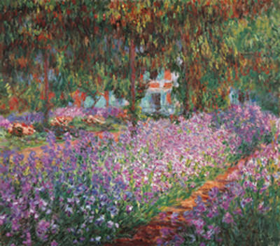 The Artist's Garden at Giverny, 1900 Kunstdruck