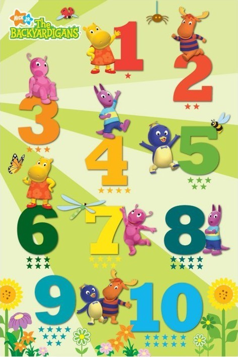 Poster THE BACKYARDIGANS - counting