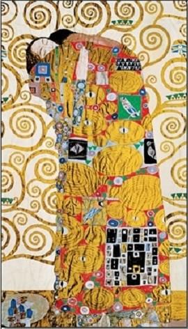 The Fulfillment (The Embrace) - Stoclit Frieze, 1909 Kunstdruck