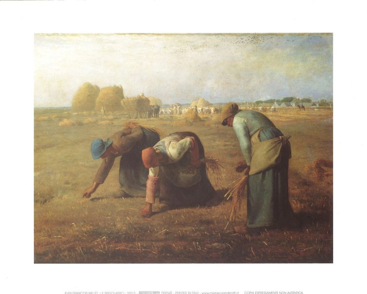Poster The Gleaners, 1857