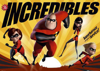Poster The Incredibles - super heroes