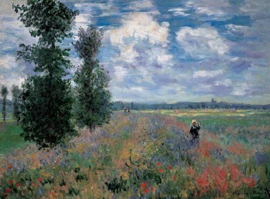 Konsttryck The Poppy Field in Summer near Argenteuil