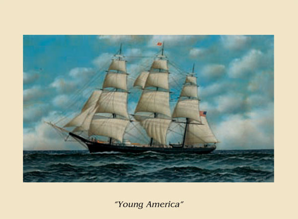 The Ship Young America Kunstdruck