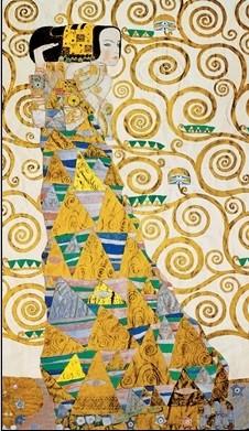 The Waiting - Stoclit Frieze, 1909 Kunstdruck