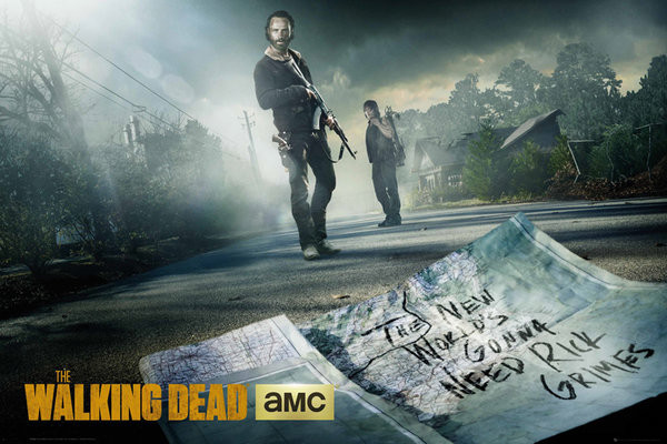 Poster The Walking Dead - Rick And Daryl Road
