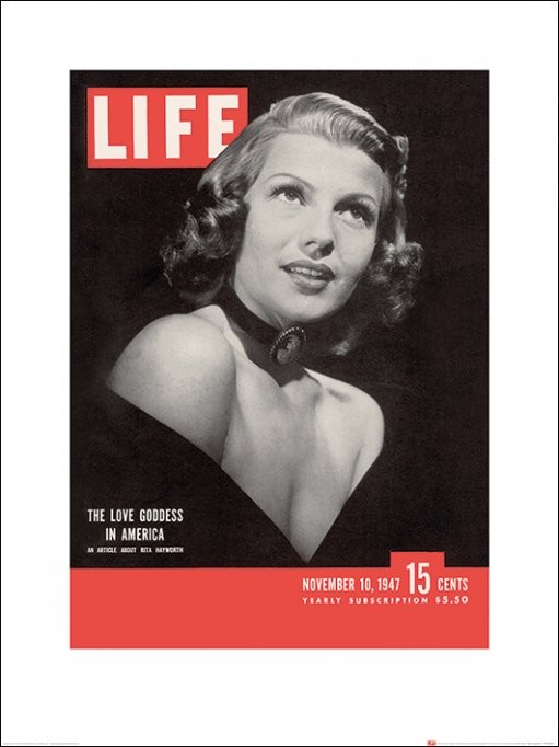 Time Life - Life Cover - Rita Hayworth Kunstdruck