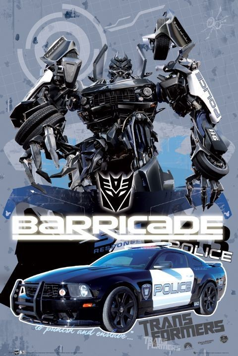 Poster TRANSFORMERS - barricade