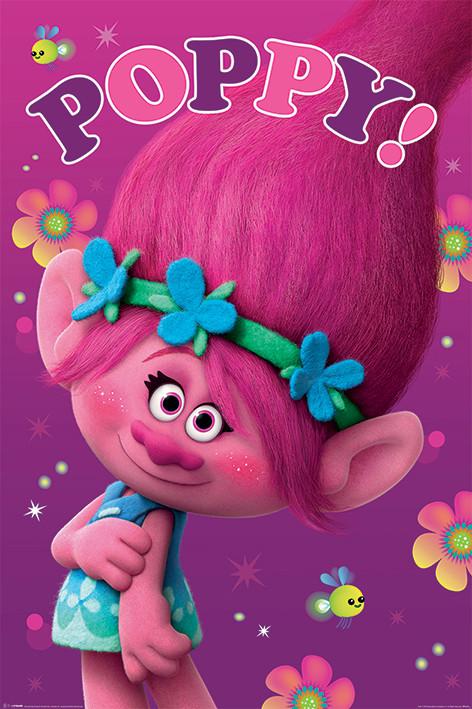 Poster Trolls - Poppy