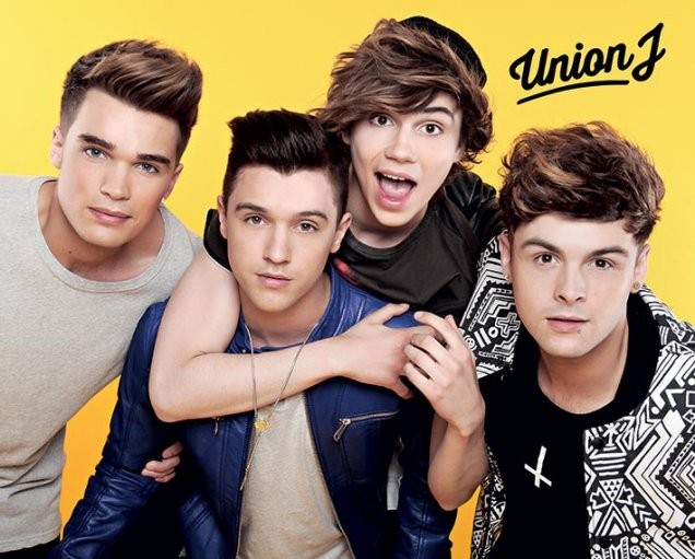 Плакат Union J - yellow