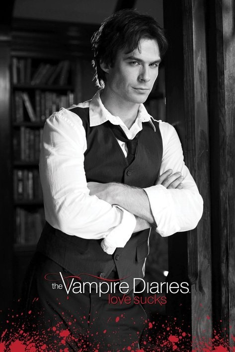 Poster Vampire Diaries - Damon (B&W)
