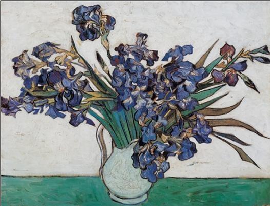 Vase with Irises, 1890 Kunstdruck