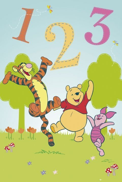 Poster WINNIE THE POOH - 1, 2, 3