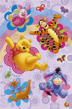 Poster WINNIE THE POOH - flowers