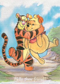 Poster WINNIE THE POOH - liebe
