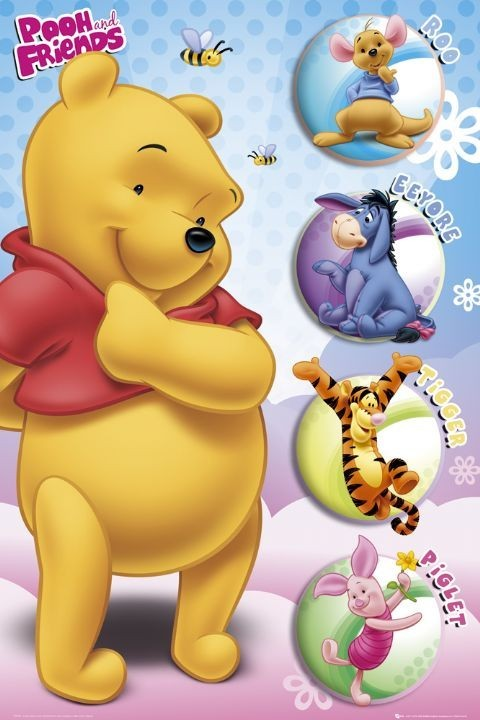 winnie the pooh und freunde poster kunstdruck bei europosters. Black Bedroom Furniture Sets. Home Design Ideas