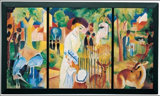 Zoological Garden, 1914 Kunstdruck