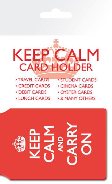 Keep Calm And Carry On Pouzdro na karty
