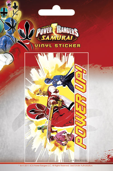 POWER RANGERS - power up Autocolant
