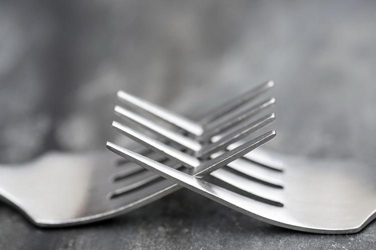 Forks - Connections Print på glas