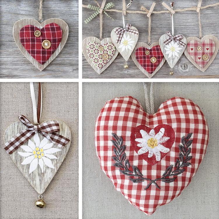 Hearts - Collage Print på glas