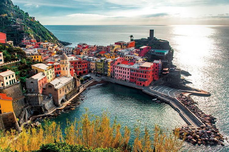 Italy - La Spezia Print på glas